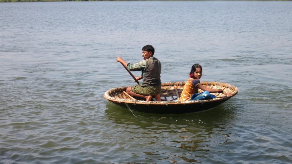 Fischer auf dem Mandovi River