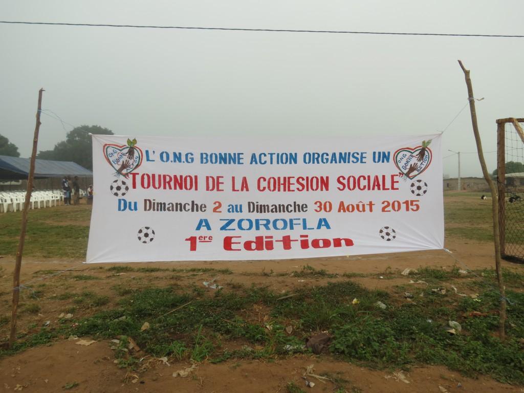 """Fußballturnier der NGO """"Bonne action"""""""