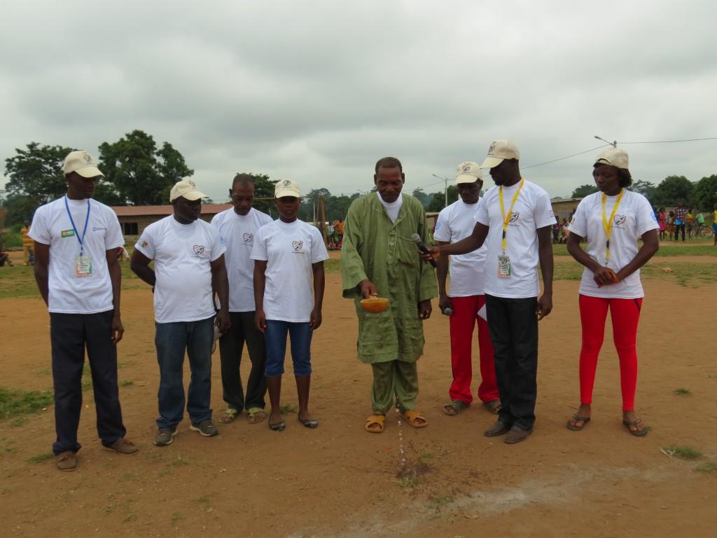 Eröffnung des Turniers durch den Dorfchef
