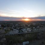 Sonnenuntergang über Villa Regina