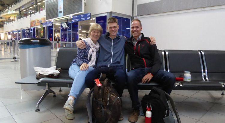 Abschied von meiner Familie vor der Abreise
